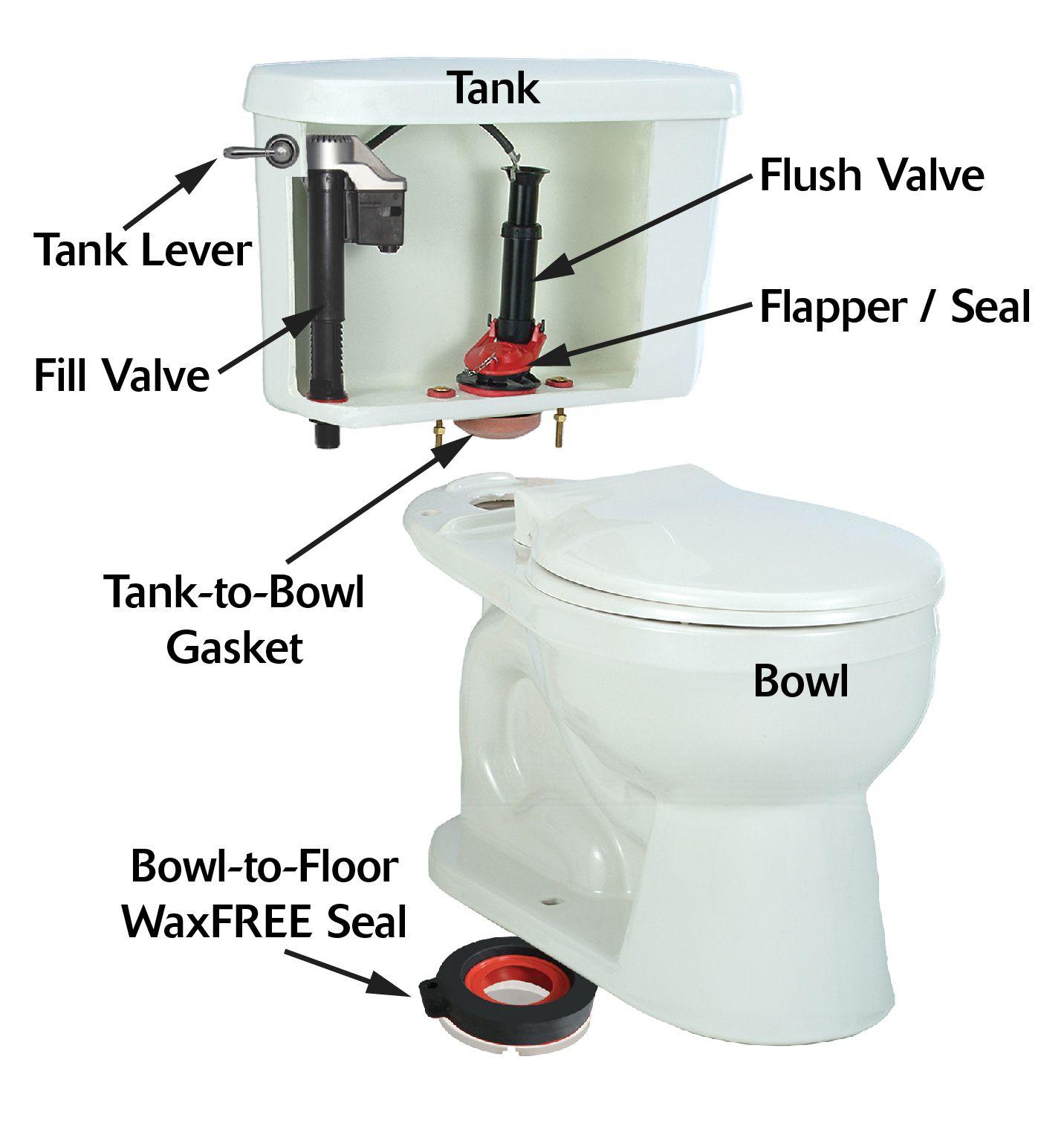 names of the toilet parts toilet