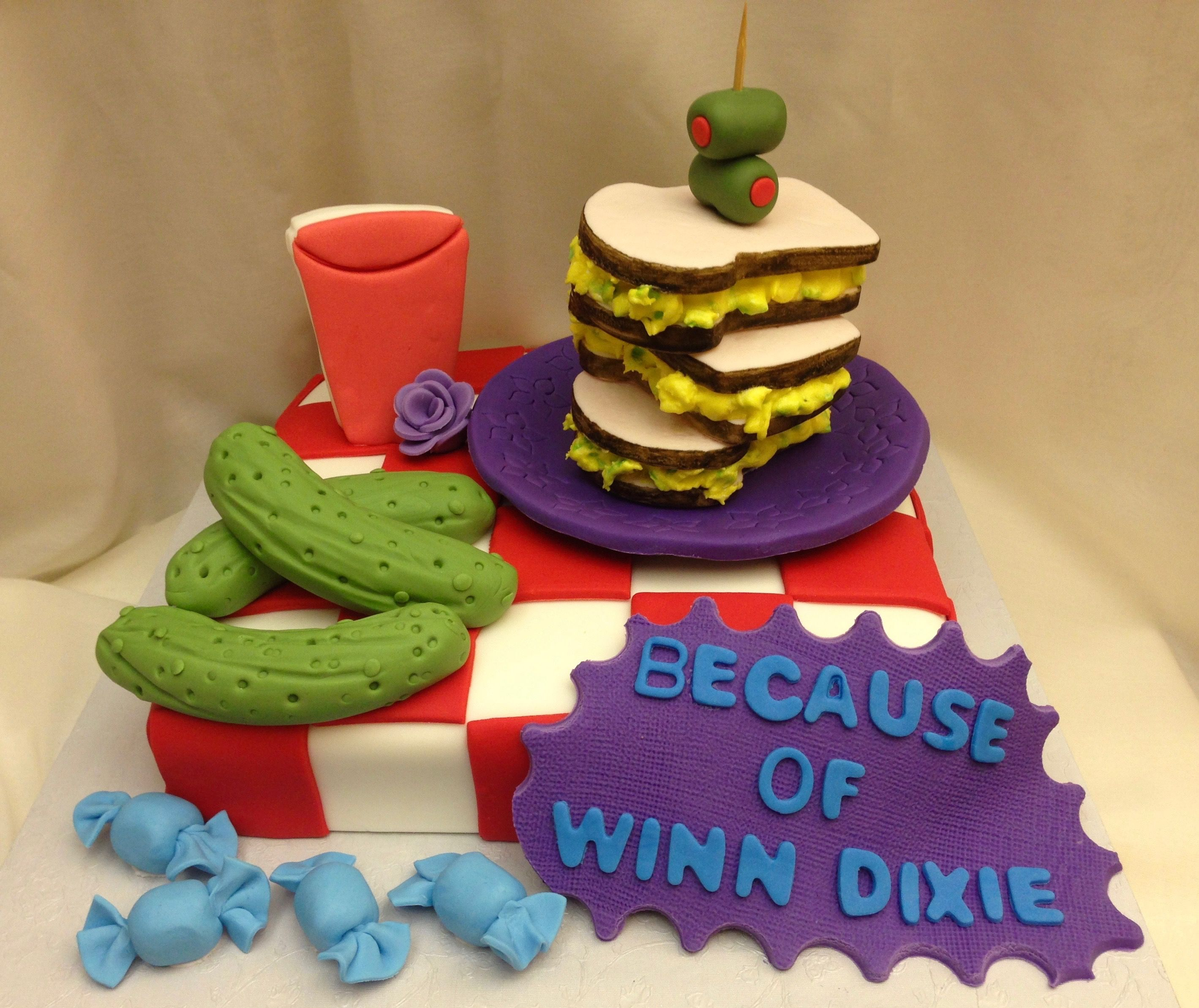 Awesome Because Of Winn Dixie Cake Winn Dixie Cakes Cake Winn Dixie Personalised Birthday Cards Veneteletsinfo