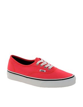 ebab066d8b Image 1 of Vans Authentic Neon Red Trainers
