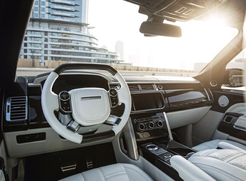 Billionaires on Range rover interior, White range rovers