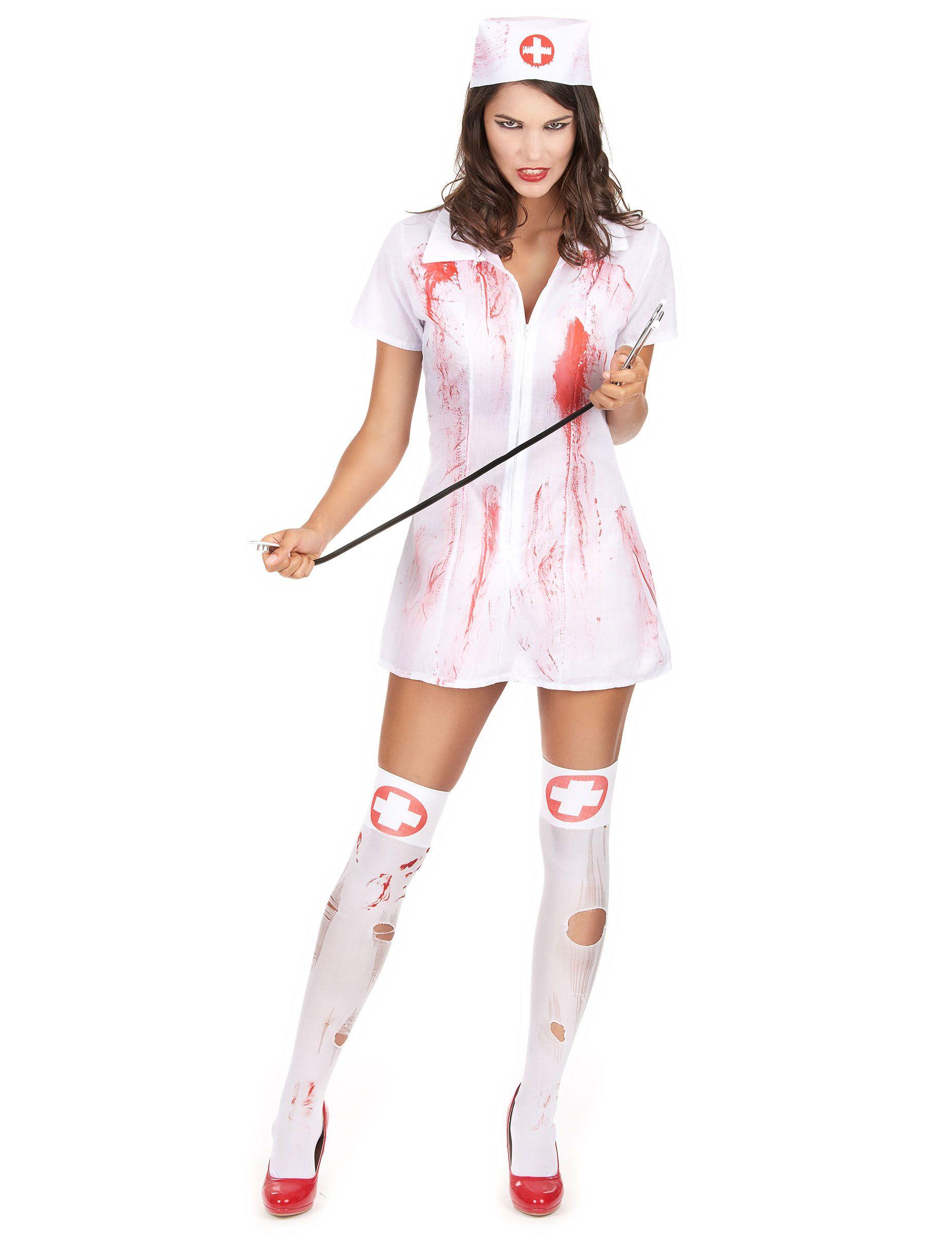 Disfraz enfermera psicópata asesina Halloween Disfraz de