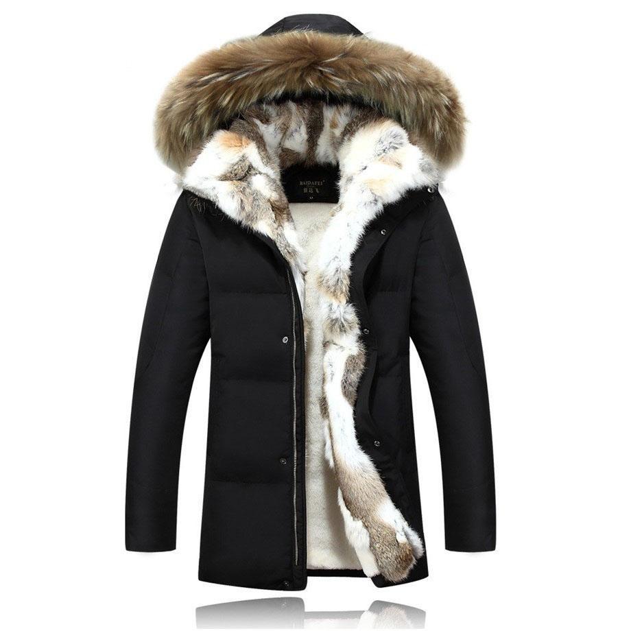 2017 New Arrival Hot Winter Men S White Duck Down Jacket With Fur Hood Fashion Plus Size 5xl Men Coat Long Ma In 2021 Fur Hood Parka Winter Jacket Men Mens Down Jacket [ 920 x 920 Pixel ]