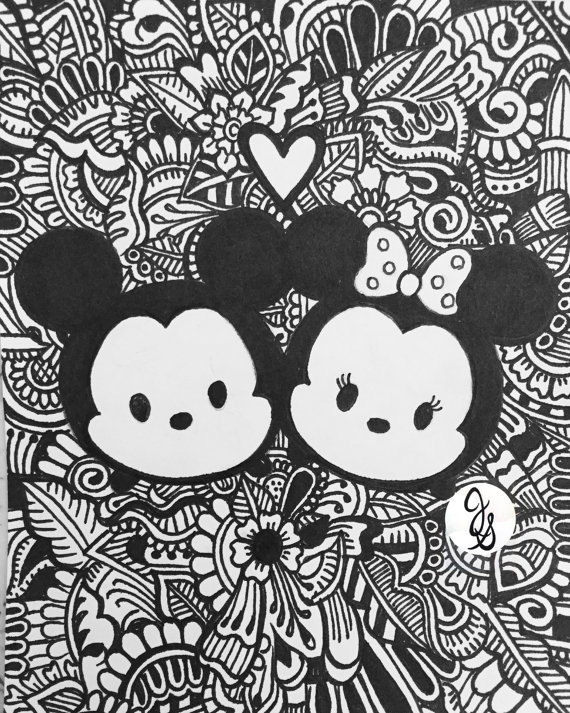 Print Disney Tsum Coloring Pages