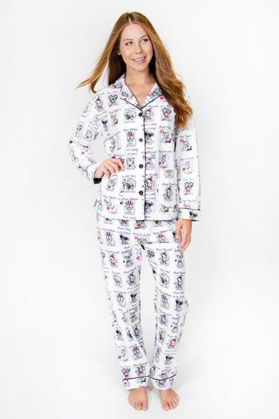 PJ Salvage Yearbook Dog Flannel Pajama Set....Experience the best ...