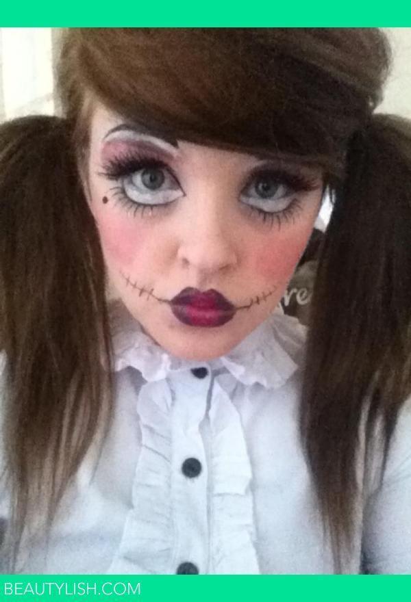 creepy doll halloween makeup | Fall things | Pinterest | Halloween ...