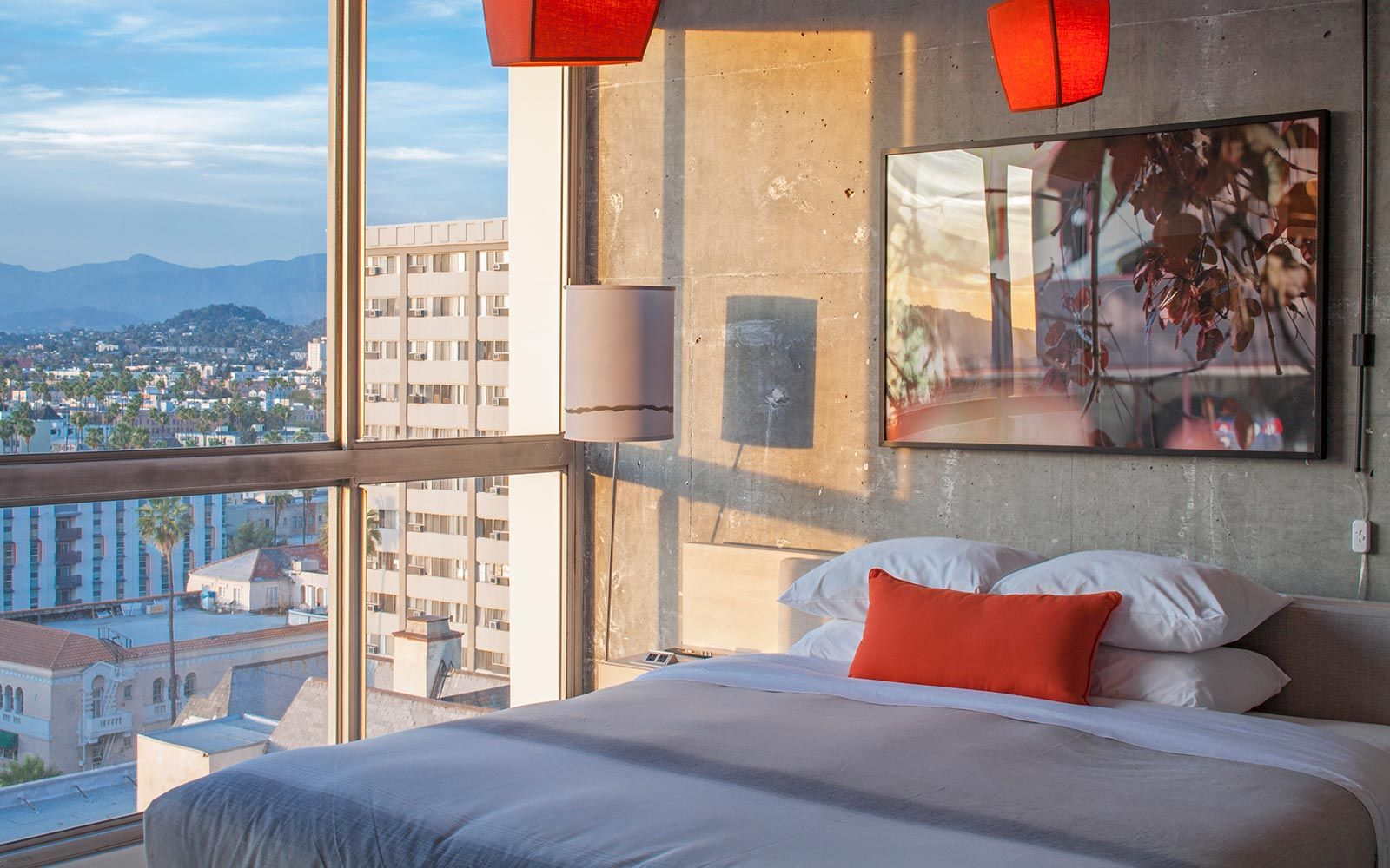The Line Hotel Koreatown Los Angeles Hollywood Hills View