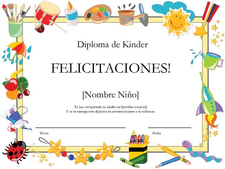 Diplomas Para Preescolar Pinterest'te hakkında 1000'den fazla ...