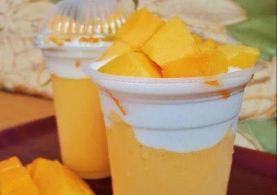 Jus Buah Kekinian Manggo Thai Minuman Jus Mangga Yang Dikombinasikan Dengan Berbagai Bahan Seperti Whipped Cream Dan Yogurt I Ide Makanan Resep Resep Minuman