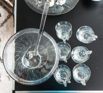 50er 60er Jahre Bowle Service Aus Glas 14tlg In Wandsbek Hamburg Sasel Glas Bowle 60er Jahre