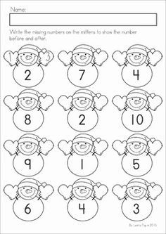 kindergarten winter math worksheets activities winter no prep a page from the unit snowman. Black Bedroom Furniture Sets. Home Design Ideas