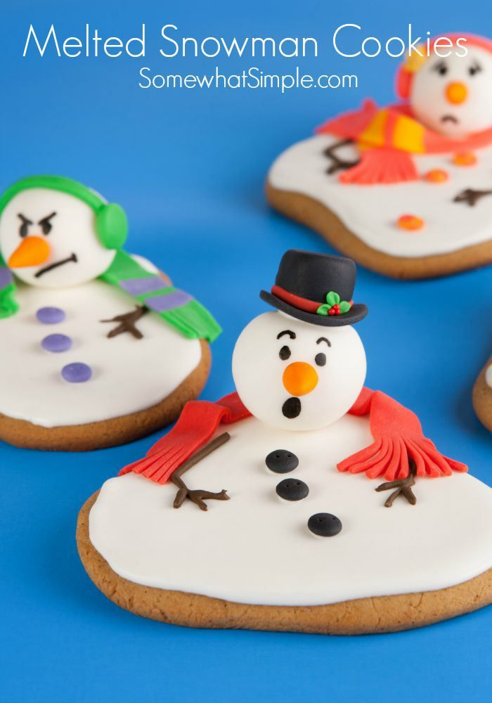 Easy Melted Snowman Cookies
