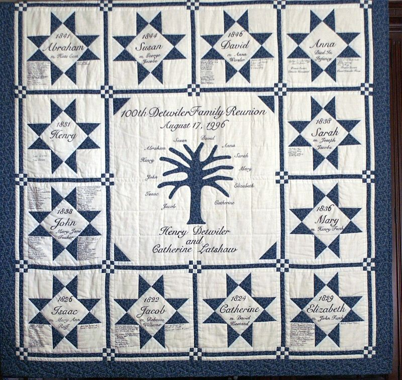 Detwiler Family Reunion Quilt Family Tree Quilt Patterns Family Tree Quilt Tree Quilt Pattern