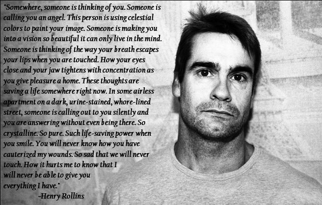 henry rollins essay Henry rollins and gene simmons make an unlikely pair, but the former just joined the kiss musician today in his harsh criticism of people who commit suicide in.