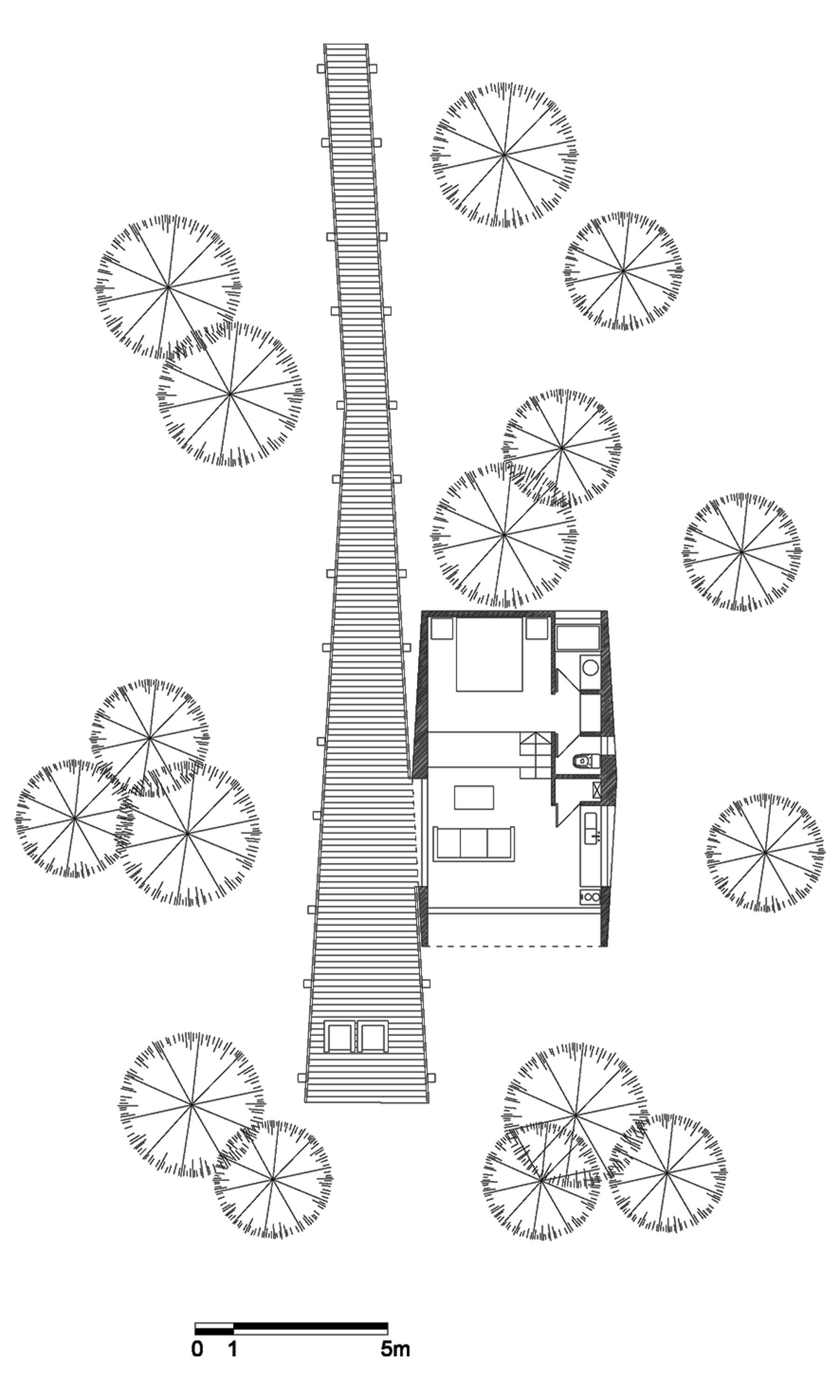 tree house floor plan. Wonderful House Floor Plan Tree House In Curacav Chile With Plan E