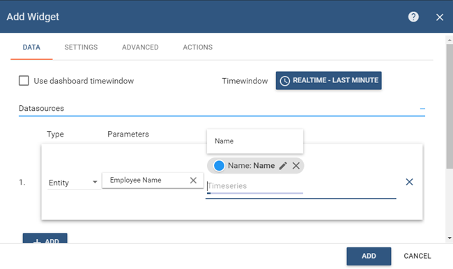 Add Widget to Dashboard on ThingsBoard for IoT Attendance System