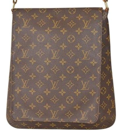 6b5f606b6797 Louis Vuitton Musette Salsa Gm As1929 Extra Large Brown Monogram Canvas and  Leather Cross Body Bag 70% off retail