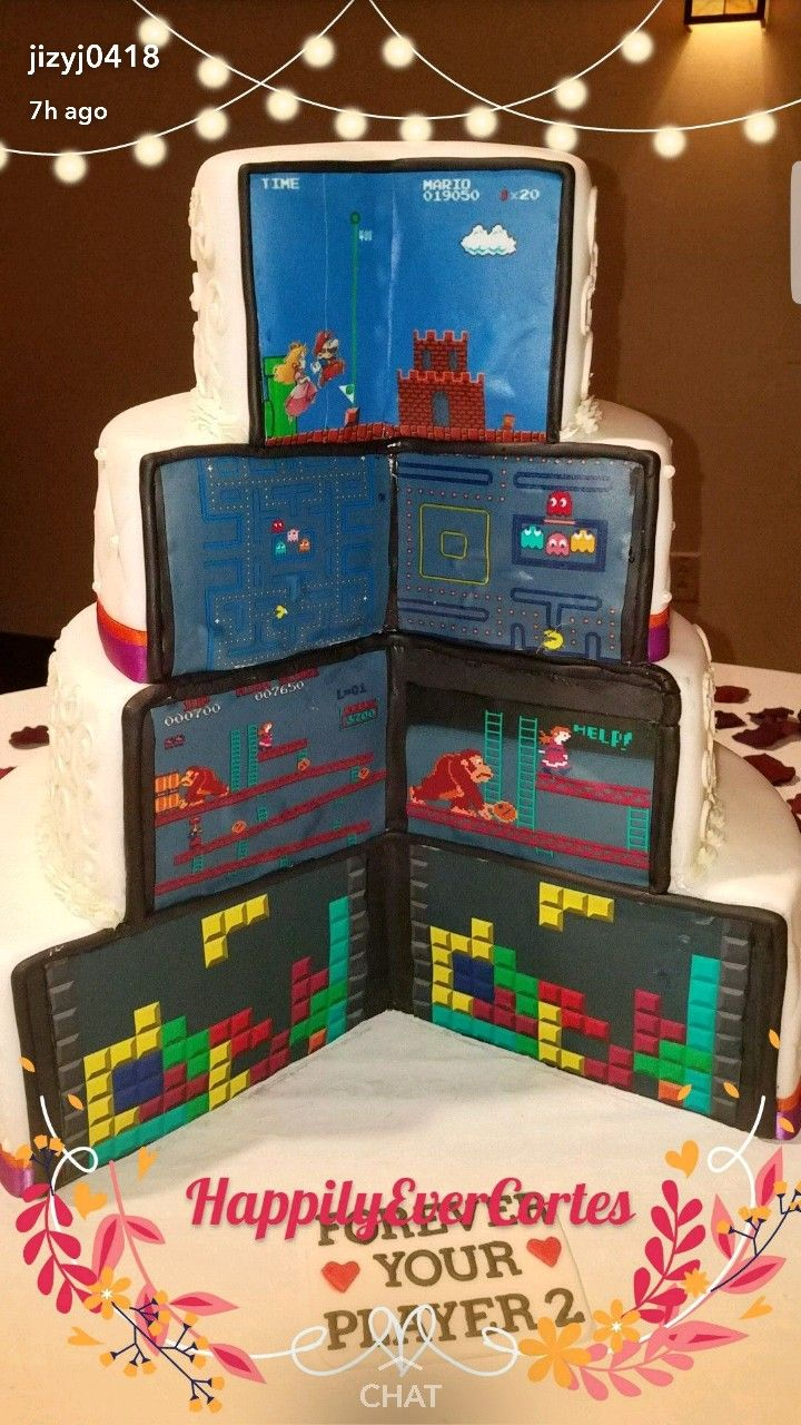 Our Opened Video Game Themed Wedding Cake Wedding Themes