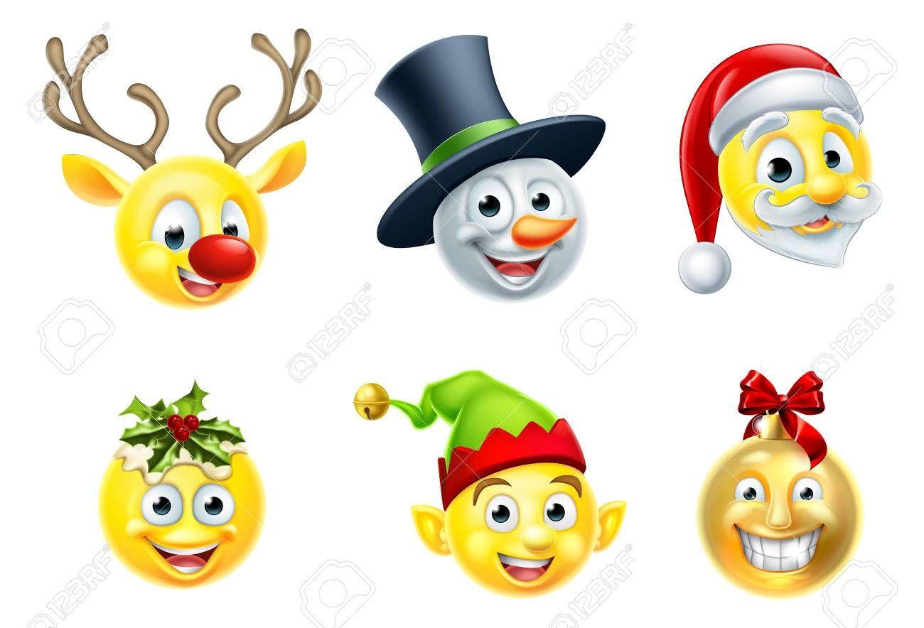 A set of Christmas emoji icons , SPONSORED, Christmas,