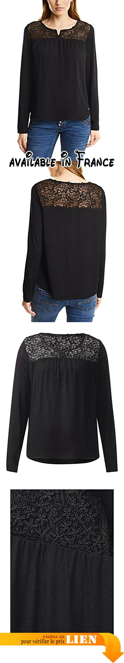 Street One Lace Mat Mix Shirt, T-Shirt Femme, Schwarz (Black 10001), 46 (Taille du Fabricant: 44).  #Apparel #SHIRT