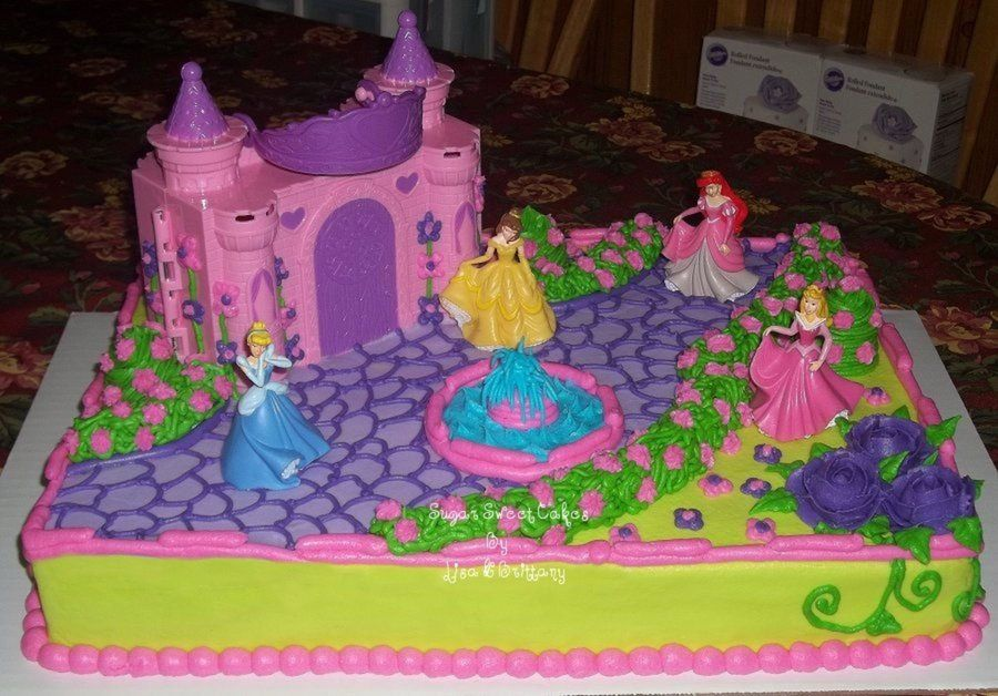 Disney Princesses With Images Disney Princess Birthday Cakes