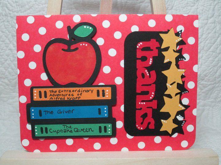 teacher appreciation card with the cricut  teacher