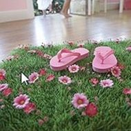 Grass Mat with Daisy Flowers  http://www.butterflycraze.com/p-266-grass-mat-with-daisy-flowers.aspx