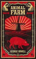 """Animal Farm by George Orwell. Tired of their servitude to man, a group of farm animals revolt and establish their own society, only to be betrayed into worse servitude by their leaders, the pigs, whose slogan becomes: """"All animals are equal, but some animals are more equal than others."""" This 1945 satire addresses the socialist/ communist philosophy of Stalin in Russia."""