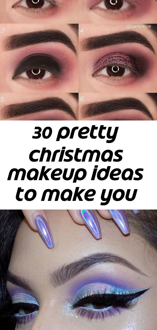 30 pretty christmas makeup ideas to make you look hot 1 #glittereyeliner