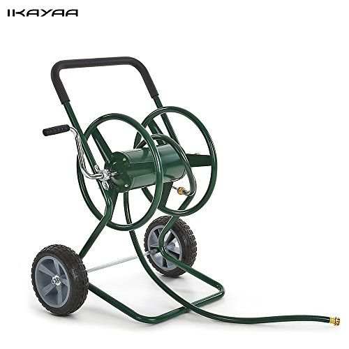 Us Shipping Ikayaa 200 Feet Capacity Garden Hose Reel Cart Trolley Steel Frame 2 Wheel Water Chariot Hand Want To Know More