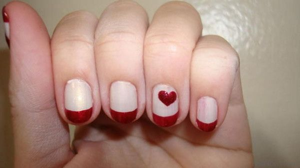 36 Romantic And Lovely Nail Art Design For Valentine S Day Nail Designs Valentines Valentines Nails Valentine S Day Nail Designs