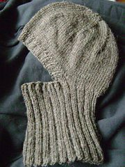 Knitted Helmet Liner pattern by Linda Swinford #bonnets