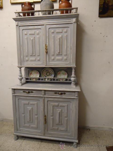 Aparador alfonsino restaurado a la tecnica decape - Muebles antiguos restaurados ...