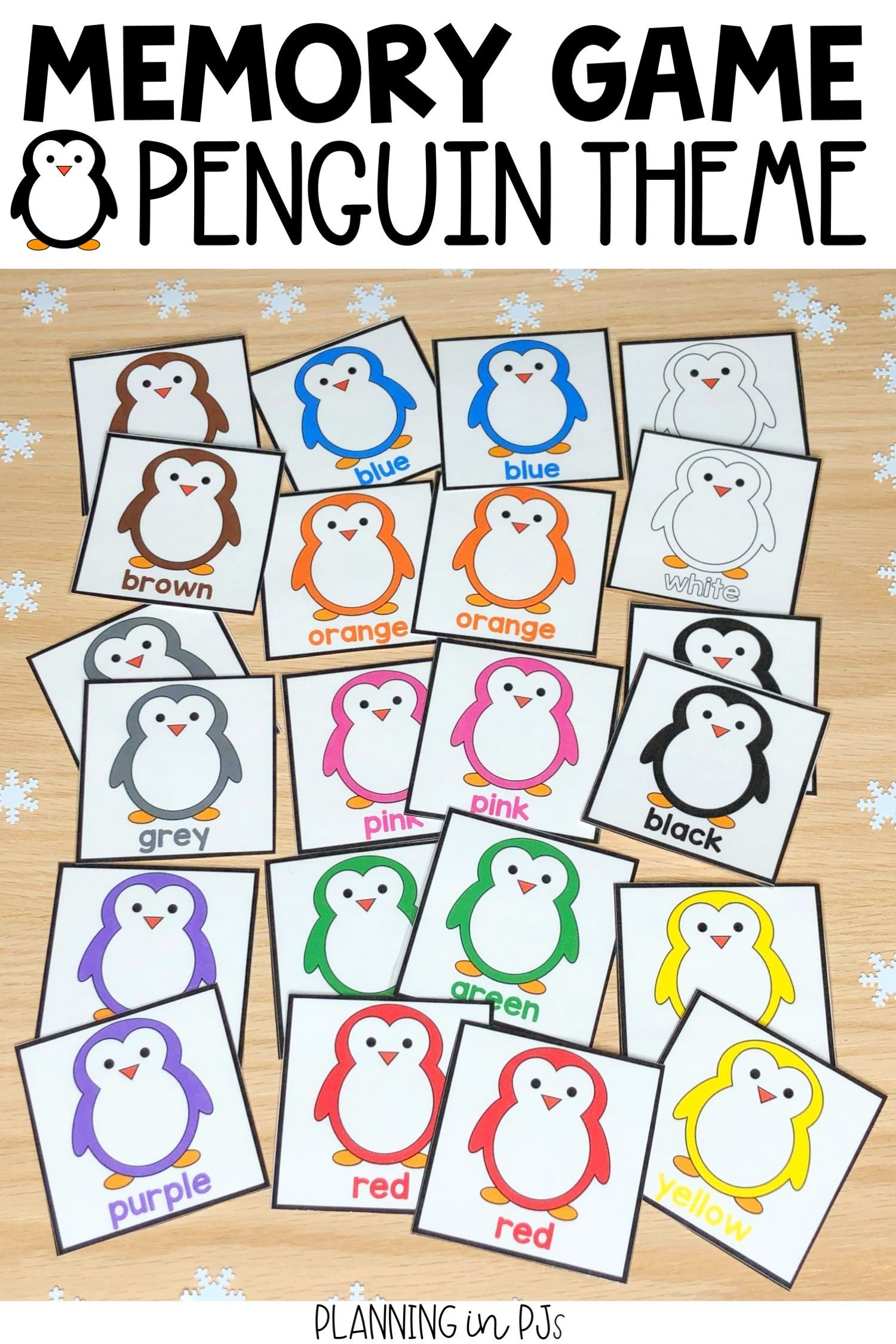 Penguin Colors Memory Game