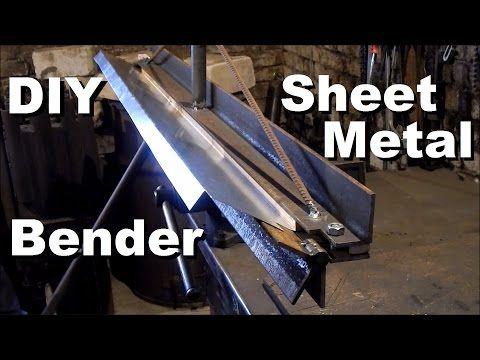 Diy Sheet Metal Bender Youtube Sheet Metal Bender Metal Bender Sheet Metal