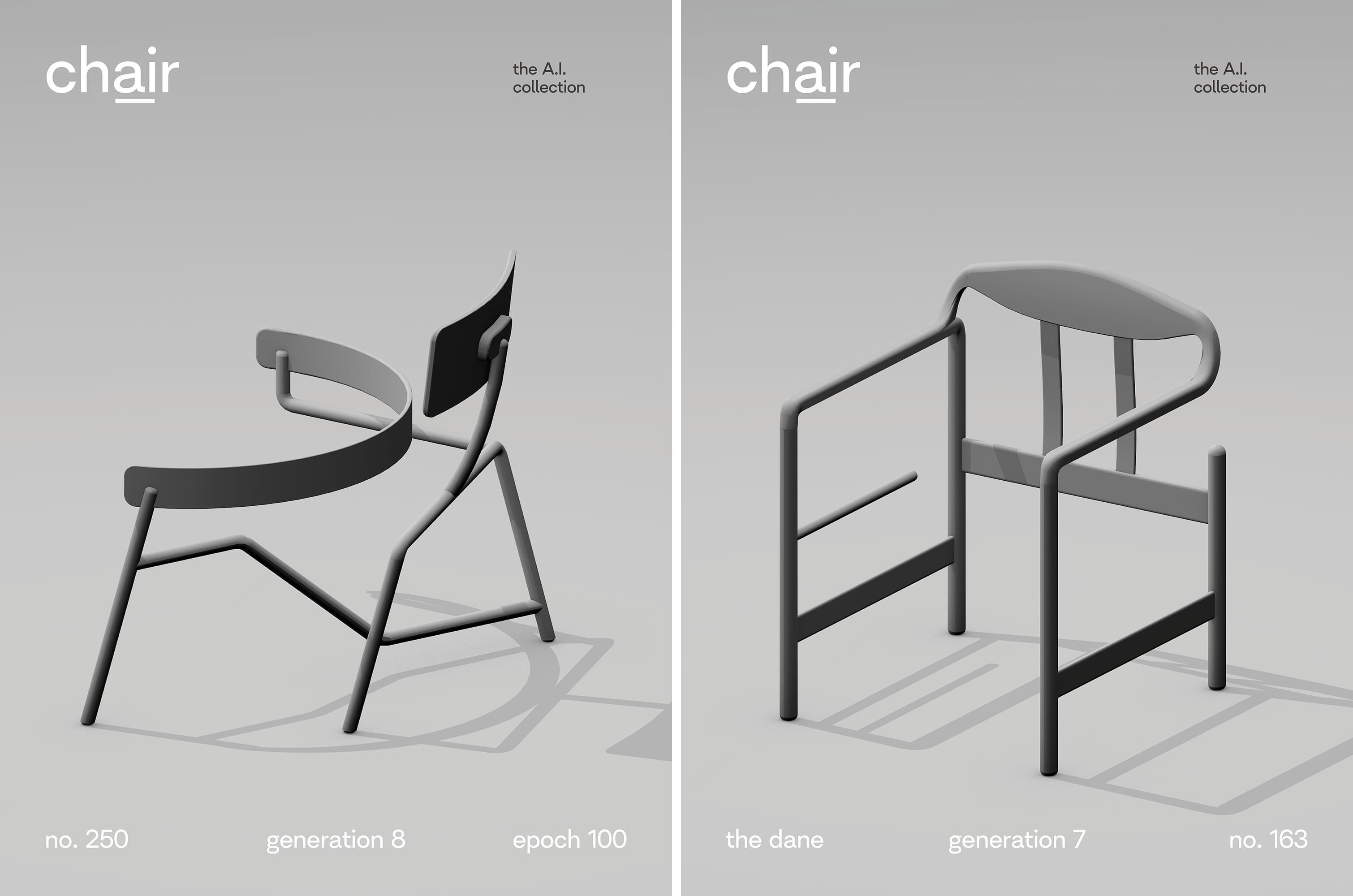 Posters Of Our Chair Designs In A Familiar Industrial Design Aesthetic In 2020 Furniture Ads Affordable Furniture Stores Chair