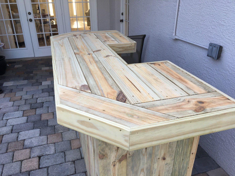 Foo Bar 6 Rustic Real Pressure Treated Wood Outdoor Or Etsy Patio Bar Outdoor Patio Bar Indoor Patio