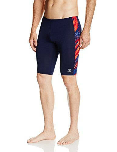 9de6862e0685f TYR SPORT Men's Echo Dash Classic Splice Jammer Swimsuit (Navy, Size 30)