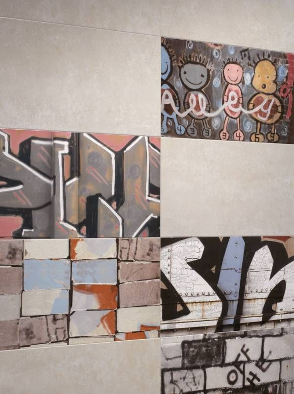 kalafrana ceramics sydney bathroom feature wall tiles graffiti look feature wall tiles from