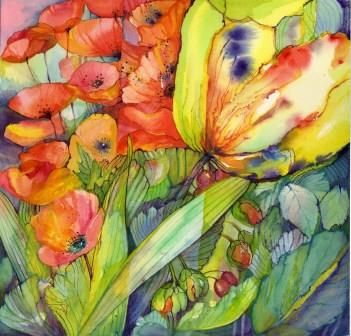Watercolour By Sara Title Renewal Ii Watercolor Flowers