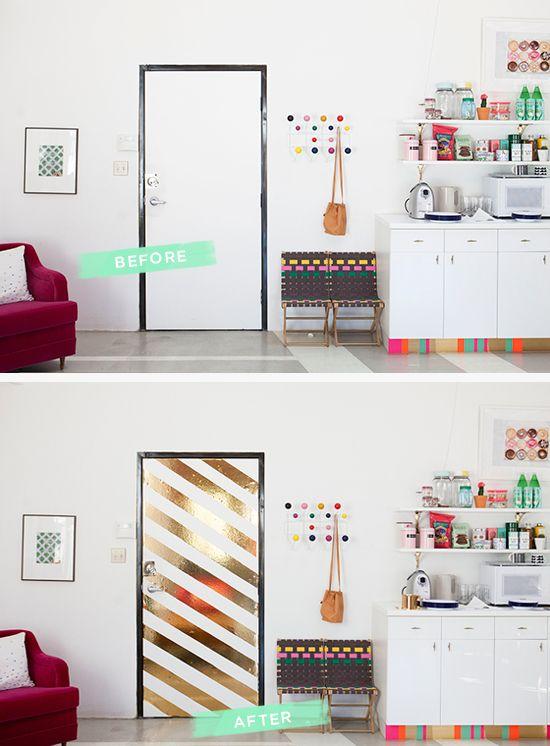 Spice it up... Or stripe it up?   @Jò in Wonderland Cho / Oh Joy!   Metallic Stripe Door DIY