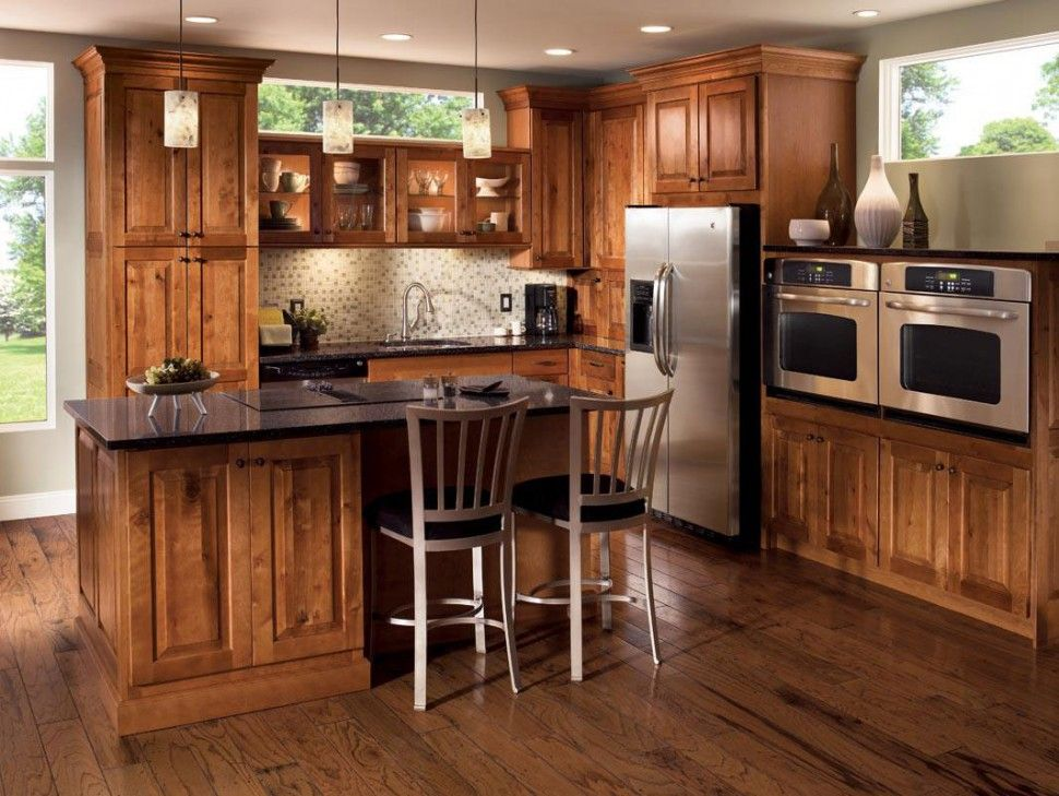 rustic hickory kitchen on pinterest making