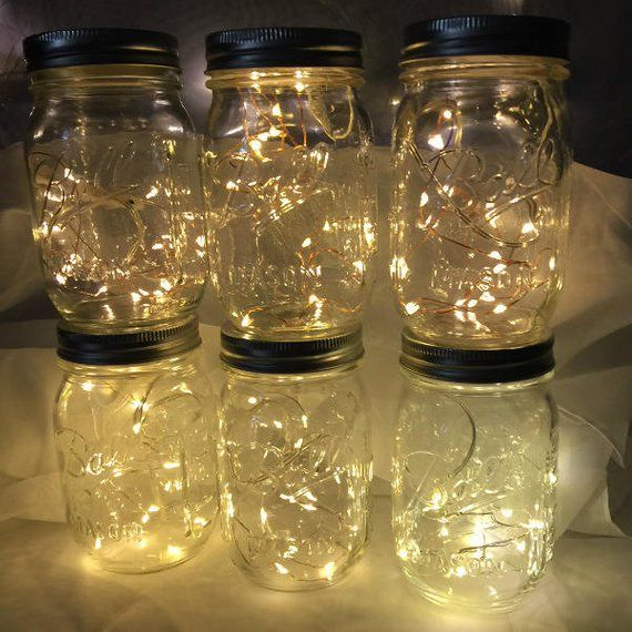 Wedding Centerpiece Decorations Fairy Lights 20 Or 39 Fairy Lights Mason Jar Lights 10 Or 20 Warm White Leds Rep Batteries Us Shop Mason Jar Fairy Lights Wedding Centerpieces Mason Jars Fairy Lights