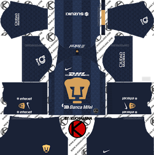 Pumas Unam 2019 2020 Kit Dream League Soccer Kits Soccer Kits Goalkeeper Kits Pumas
