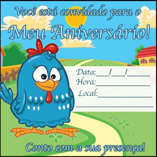 Convite Da Galinha Pintadinha Para Imprimir Cumpleanos Convite