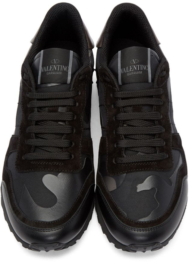 d3ce7230990 Valentino - Black & Gunmetal Camo Sneakers Meisjes Gympen, Adidas  Gymschoenen, Heren Mode Schoenen
