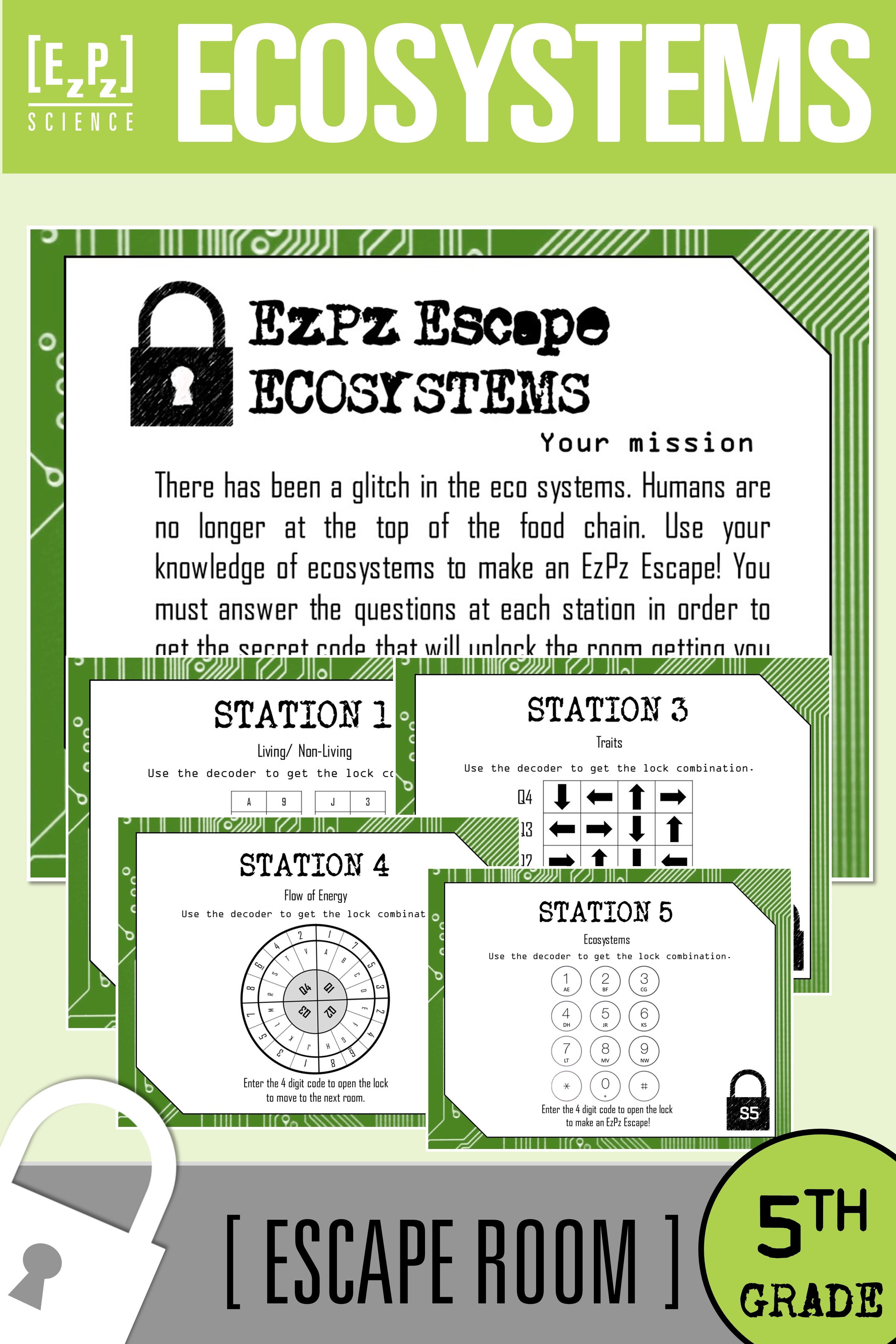 Organisms And Environments Ecosystems 5th Grade Science Escape Room Matter Science Escape Room 5th Grade Science [ 4500 x 3000 Pixel ]