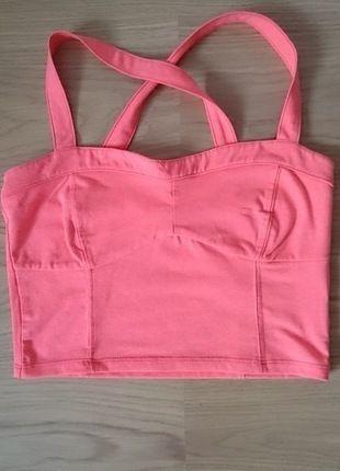 Kup mój przedmiot na #Vinted http://www.vinted.pl/kobiety/topy-koszulki-i-t-shirty-inne/9834799-rozowy-neon-stanik-top-bardotka-gina-tricot