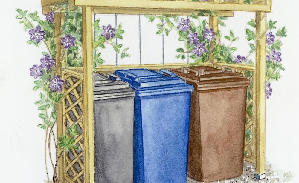 sichtschutz f r m lltonnen m lltonne selbst bauen und verstecken. Black Bedroom Furniture Sets. Home Design Ideas