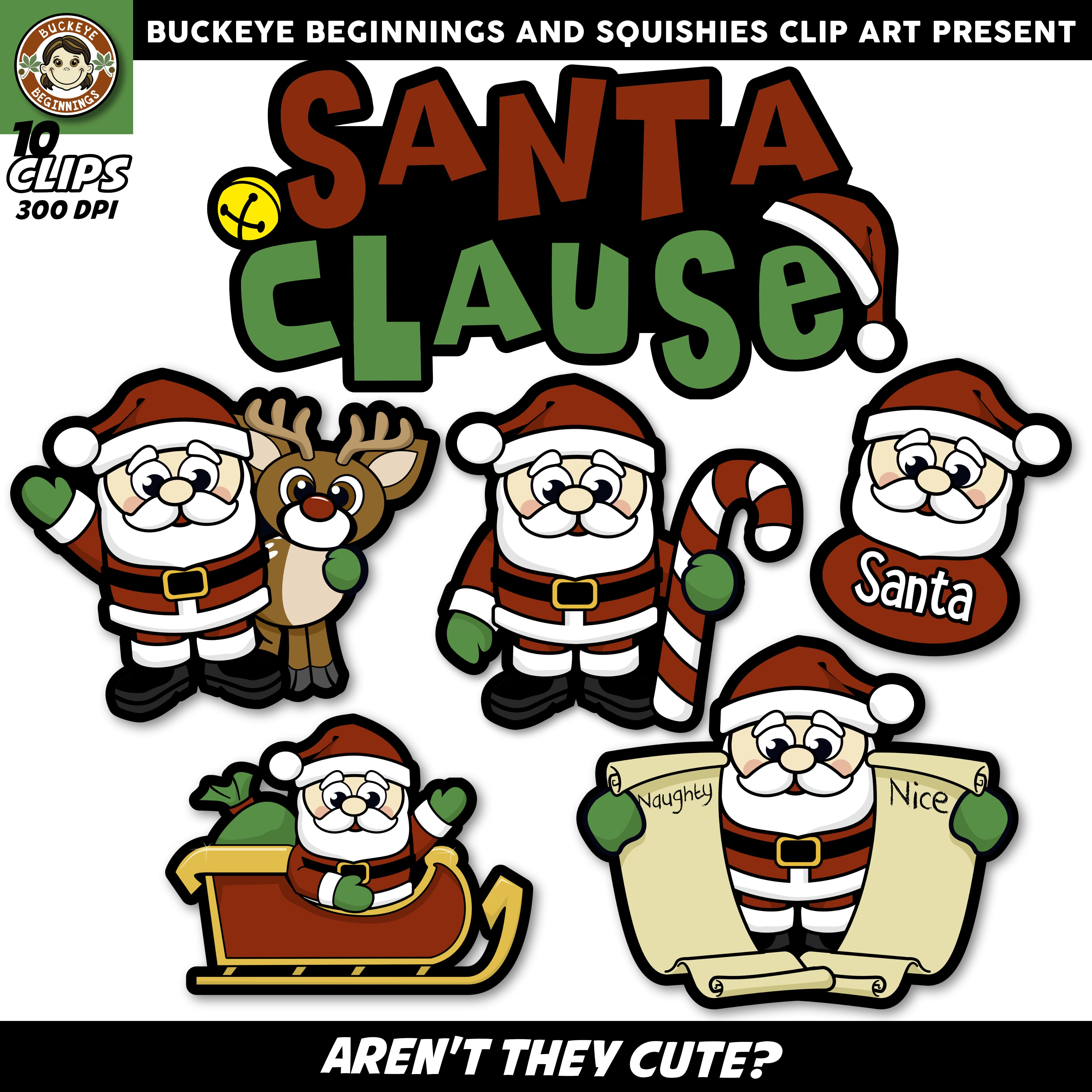 hight resolution of santa clause clip art squishies clipart