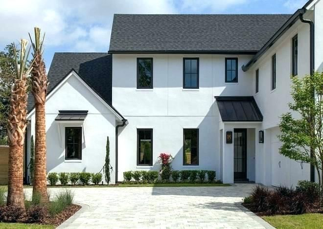 Best White Brick House With Black Windows Google Search 400 x 300